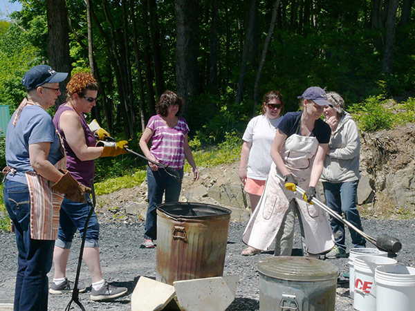 At the Raku Firing Workshop